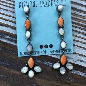 Navajo Mother of Pearl And Spiny Dangles